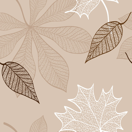 seamless pattern of lace foliage background Vector