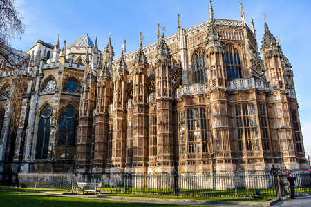 Henry VIIs Lady Chapel of Westminster Abbey, the great masterpiece of English medieval Perpendicular Gothic architecture. Editorial