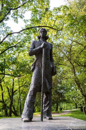 Statue of Kristjan Jaak Peterson on Toome Hill, Tartu. Kristjan Jaak Peterson, also known as Christian Jacob Petersohn, was an Estonian poet.