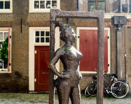 Amsterdam, Netherlands - May 21, 2018: The bronze statue honoring the prostitutes of the world and called