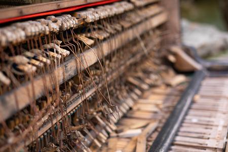 Old piano in Uzupis. Lithuania, Vilnius
