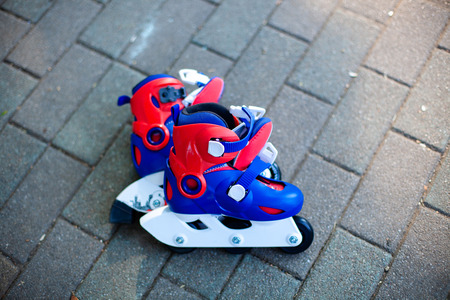 Close up view of inline skate