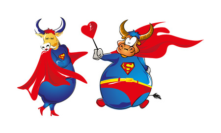 marido y mujer: Super-Buffalo marido esposa en d�a de San Valent�n s
