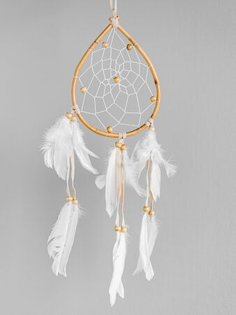 White dreamcatcher - Indian amulet that protects the sleeper from evil spirits and diseases.