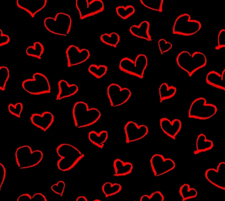 many red hearts over white background photo