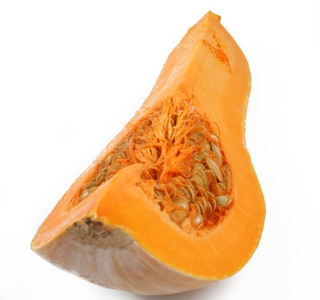 quater of butternut pumpkin isolated on white Stock Photo - 9082640