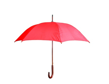 red umbrella isolated on a white background photo