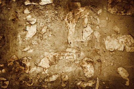 rusty grange texture wall with burnt and torn paper Stock Photo - 9082532