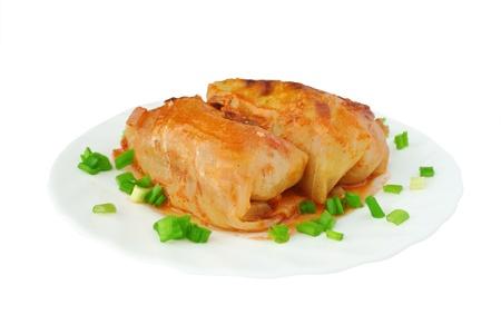Eastern European dish - cabbage rolls in tomato sauce Stock Photo - 9082735