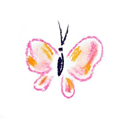 pink butterfly illustration on white background illustration