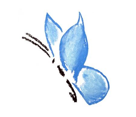 blue butterfly illustration on white background illustration