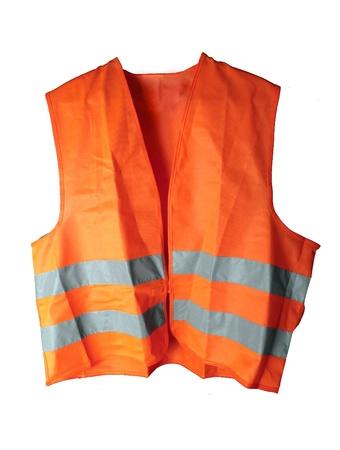 Orange reflective vest isolated on the white background Stock Photo - 10041298