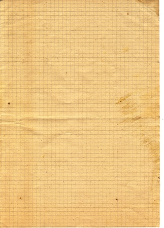 Retro checked textured paper 50 years old Stock Photo - 10041337