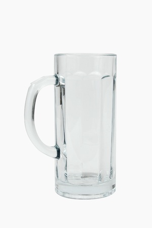 beerglass: empty beerglass isolated over white