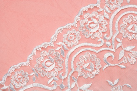 bead embroidery: abstract wedding background decorated with lace Stock Photo