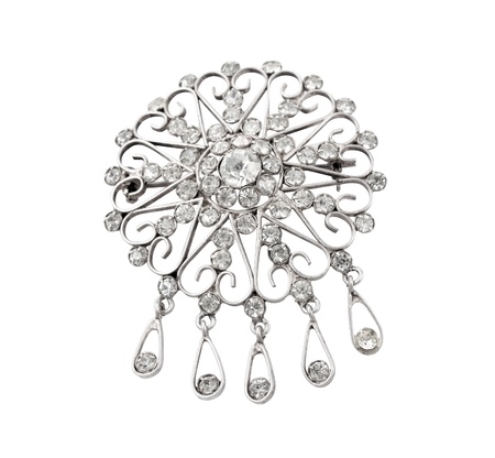 precious vintage jewellery brooch isolated on white backgroun Stock Photo - 11503974