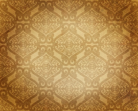 antique damask floral background photo