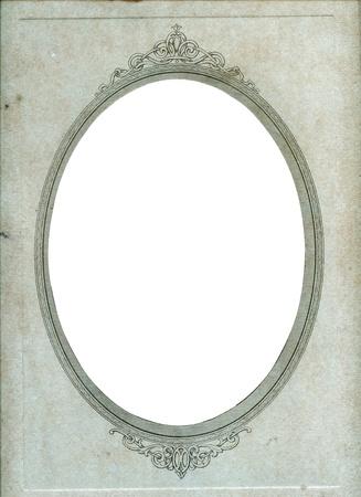 owalne: Vintage papier ramka owalna