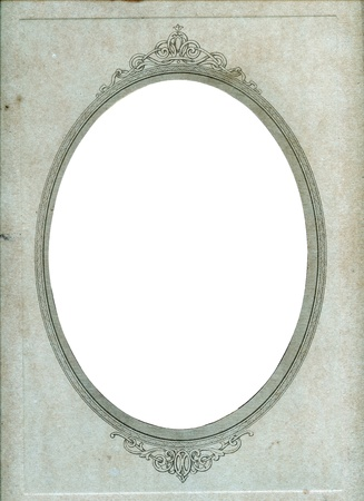 vintage photo paper oval frame Stock Photo