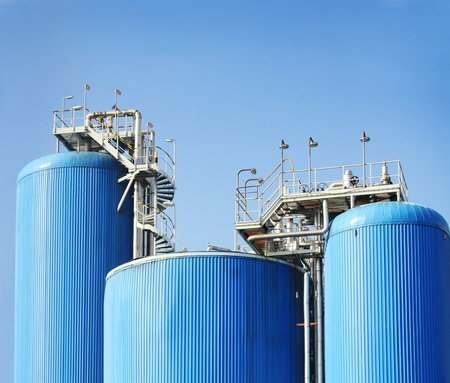 Modern chemical manufacturing plant construction Stock Photo - 12117105