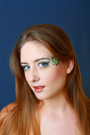 Gorgeous Young model beautiful women with perfect art make up