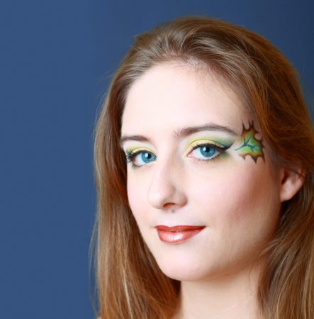 eyeshades: Gorgeous Young model beautiful women with perfect art make up