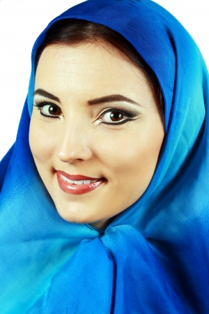 turkish woman: Portrait of sensual woman model with arabic bright make-up