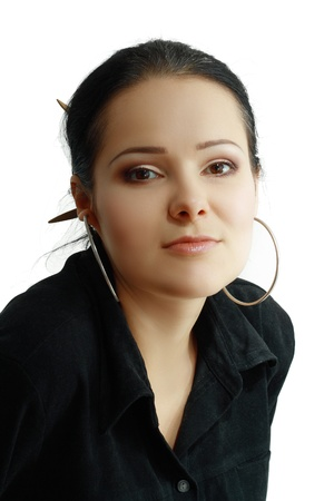 30 years old woman: Portrait of a beautiful 30 years old woman Stock Photo