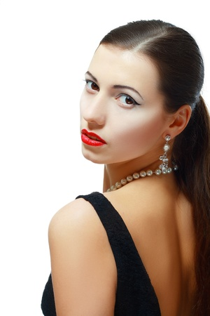 Beautiful woman with evening make-up. Jewelry and Beauty. Fashion photo Stock Photo - 17784711