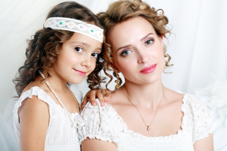 beautfiul mother and the daughter of the woman of fashion Stock Photo - 19890811