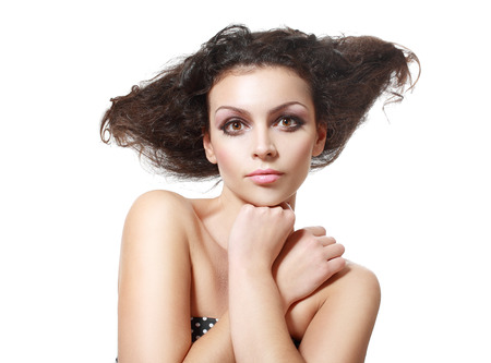 upsweep: beautiful young female model with a wicked hairstyle