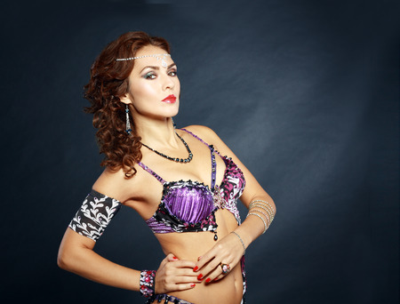 exotic dancer: A portrait of a beautiful belly dancer