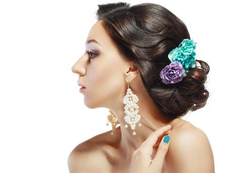 bridal hair: Glamour Fashion Indian or Latin Woman Portrait