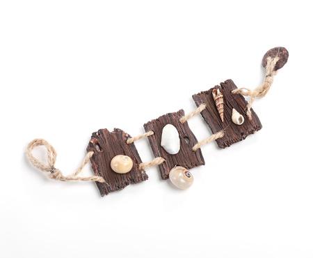 rustical: vintage rustical boho handmade wooden bracelet over white background