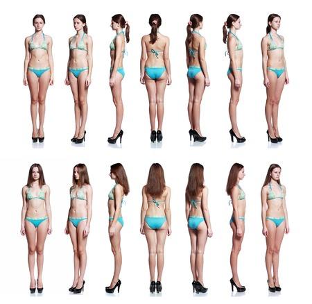 ropa interior ni�as: joven y bella modelo de moda posando para snaps