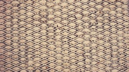 treadplate: Texture of metal. Seamless Textures. Retro filter toning Stock Photo