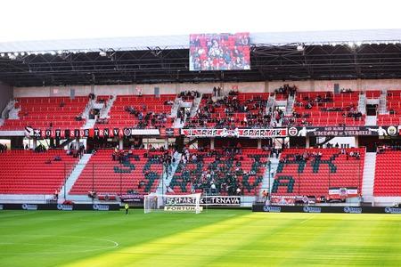 spartak: City Arena stadium in Trnava, Slovakia, soccer play Spartak Trnava (SVK) sv Mijava, October 3, 2015 Editorial