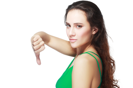 no person: Woman show gesture not ok