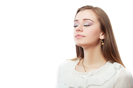 woman breathing fresh air of feel good smell