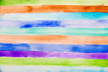 rainbow colors: Striped hand drawn watercolor background. Vector version. Bright colors. Watercolor composition for scrapbook elements or print.