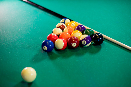 pool table with props Stock Photo