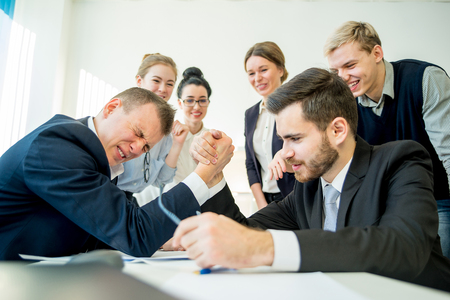 Confrontation in office Stock Photo