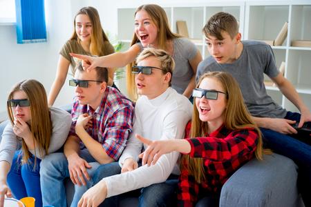 blockbuster: Friends in 3D glasses