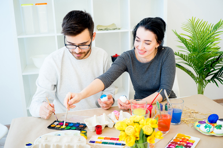 Couple preparing for Easter