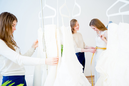 Measuring wedding dress