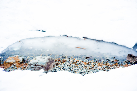 thawed: Ice melting on a lake
