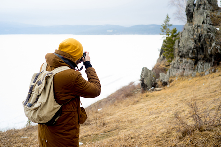 Photographers on a hill