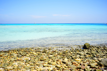 Pebble beach and sea