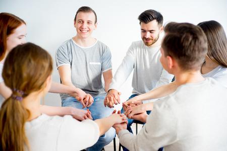 Group therapy in session Foto de archivo