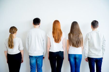 Back view of group of people Stock Photo